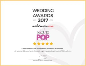 insolito pop wedding award